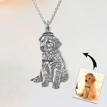 Custom Pet Photo Pendant Personalized Jewelry Pet Figure Necklace