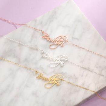 Cursive Name Necklace Custom Cursive Name Necklace