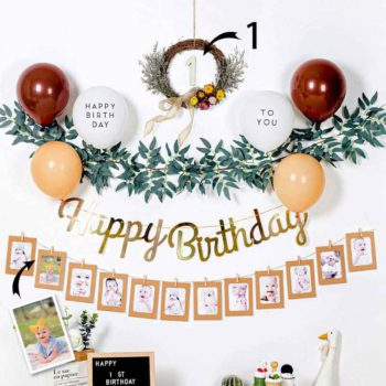 Personalized Birthday To You Party Decoration Custom Number & Photos Garland