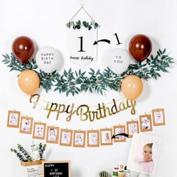 Birthday Family Room Wall Decoration Custom 12 Pictures Background Banner