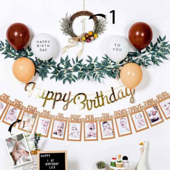 Custom Baby Pictures Birthday Party Decorations Baby Birthday Happy Backdrop