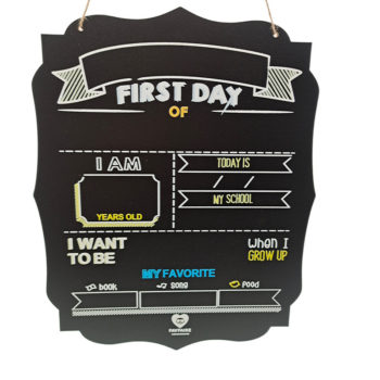 Children's First Day of School Board First Day of Chalkboard DIY Sign