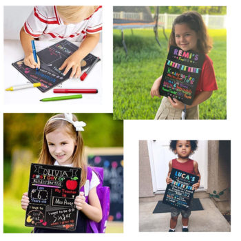 DIY Chalkboard First Day of School Back to School Sign for Boys & Girls