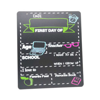 Kid's First Day of School DIY Sign Small Chalkboard Back to School Supplies