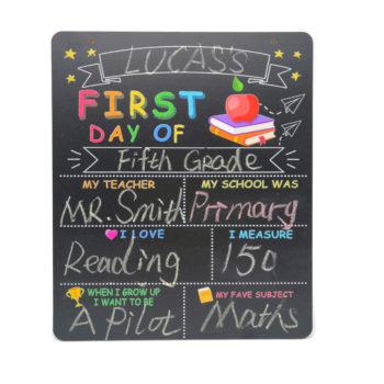 My First Day of School Chalkboard DIY Sign Self-introduction Board School Supplies