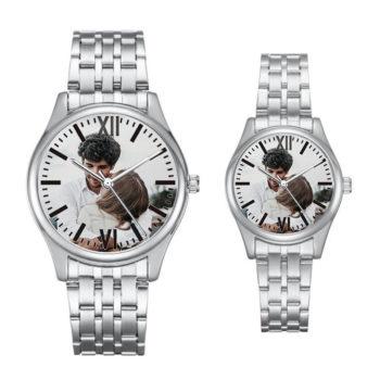 Custom Wristwatch Roman Numerals Scale Personalized Brushed Strap Wristwatch Watch for Men & Women