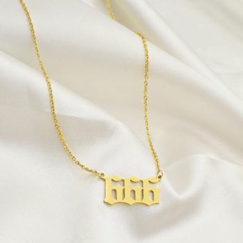 Custom Commemorative Number Necklace Personalized 111-999 Pendant Necklace