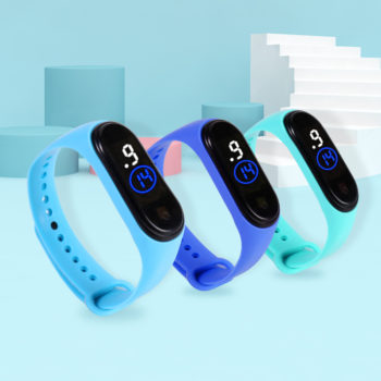 Kids Watch Solid Color Eco-Friendly LED Watch Sport Digital Touch Screen Teenage Students Watch
