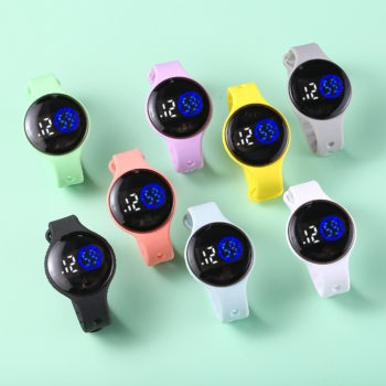 Student LED Touch Watch Swimming Waterproof Watches