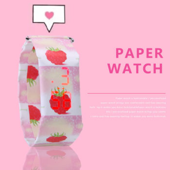 New Paper Watch LED White Light Waterproof Durable Paper Watch Couple Watches