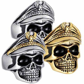 Skull Ring Double Eagle Officer Ring Undead Legion