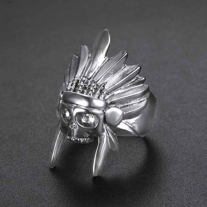 Indian Chief Ring Native Headdress Tribal Amulet Ring