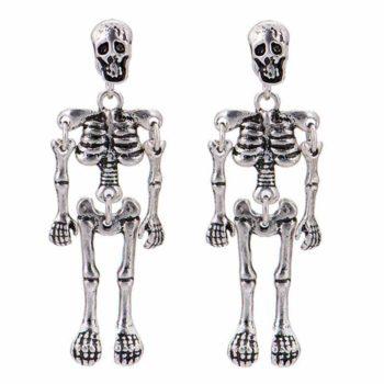 Punk Skull Earrings Pair of Dangling Rock Gothic Earrings