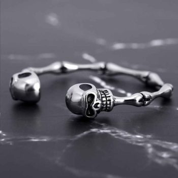 Skeleton Bracelet Geometric Adjustable Bones Cuff Bangles