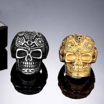 Raven Skull and Crossbones Ring Designs Sunflower Ring