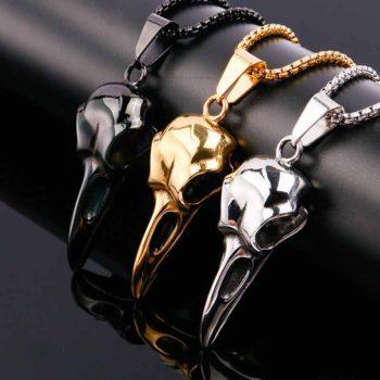 Raven Skeleton Darkness Necklace Halloween Skull Chain