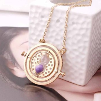 Time Turner Necklace Spinning Time Travel Gold Necklace