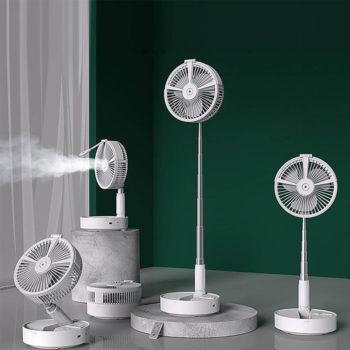 Folding Fan Portable Retractable Table & Floor Spray Fan