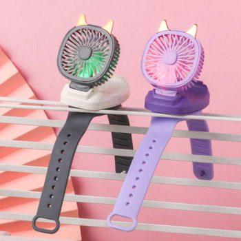 Wearable Fan Hand-held Wrist Strap Personal Electric Fan