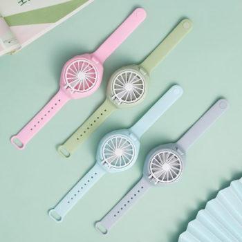 Personal Fan Watch Pop-up Button Rechargeable Wrist Fan