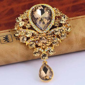 Wedding Brooch Floral Rhinestone Crystal Bridal Pins