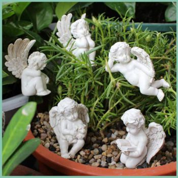 Angel Garden Statue Five-piece Cupid Flower Pot Decoration