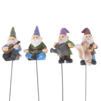Cute Gnome Set Of 5 Garden Lying Elf Pot Decoration Art
