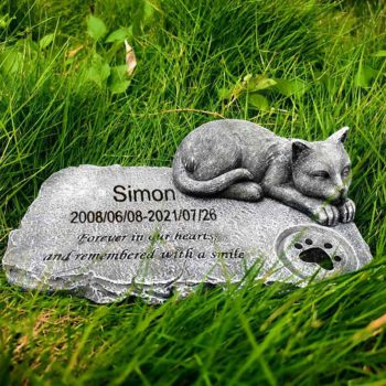 Cat Memorial Stone Tombstone Marking Paw Print Crafts