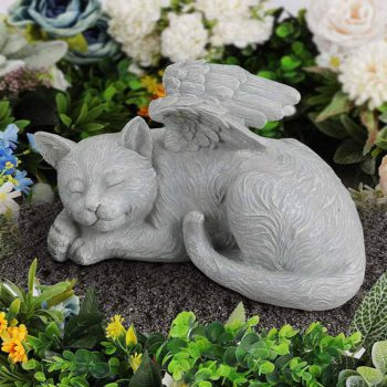 Memorial Stones for Cats &  Dogs With Angel Wings Sculpture