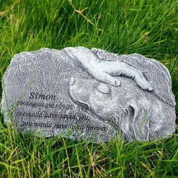 Dog Garden Statue Warm Golden Retriever Resin Tombstone