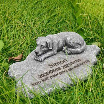 Dog Memorial Garden Stones Custom Dog Remembrance HeadStone