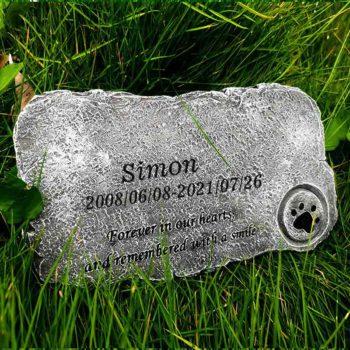 Custom Headstones Outdoors Memorial Paw Stepping Stones