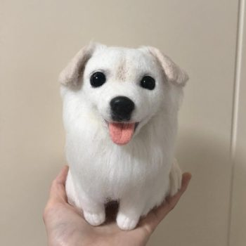 Needle Felting Dog Micro Landscape With Cover Protection