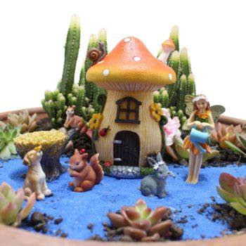 Fairy House Kit Mushroom Flower Insert Resin Ornaments