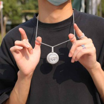 Bubble Letter Chain Rotatable Custom Alphabet Necklace