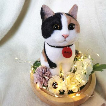 Cat Felting Kit Personalized Kitten Miniature Portrait