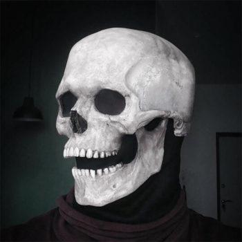 Skull Helmet With Movable Jaw Halloween Full Skull Mask