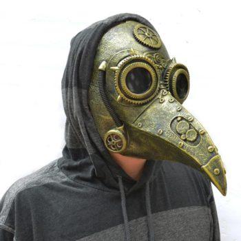 Plague Doctor Raven Beak Mask Halloween Steam Mask