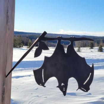 Hanging Bat Metal Halloween Tricky Upside Down Decoration