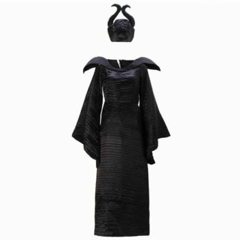 Witch Costumes Maleficent Christening Black Gown Costume