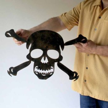 Skull And Crossbones Vintage Pirate Wall Art Home Decor