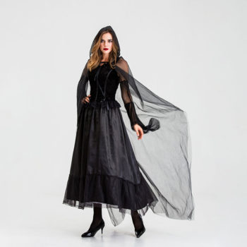 All Black Halloween Costumes Ghost Bride Cosplay Costume