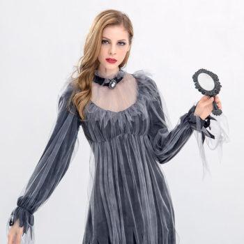 Women Ghost Costume Horror Halloween Party Vampire Suit