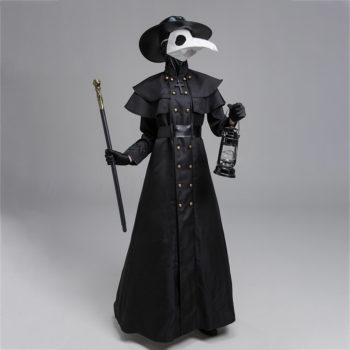 Plague Doctor Cosplay Classic Black Plague Outfit Costume