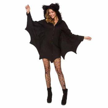 Bat Costume Black Cozy Vampire Cosplay Zipper Bodysuit
