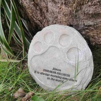 Pet Memorial Stones Sympathy Dog Paw Shape Gravestone