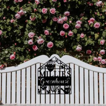 Personalized Greenhouse Sign Hanging Name Garden Sign