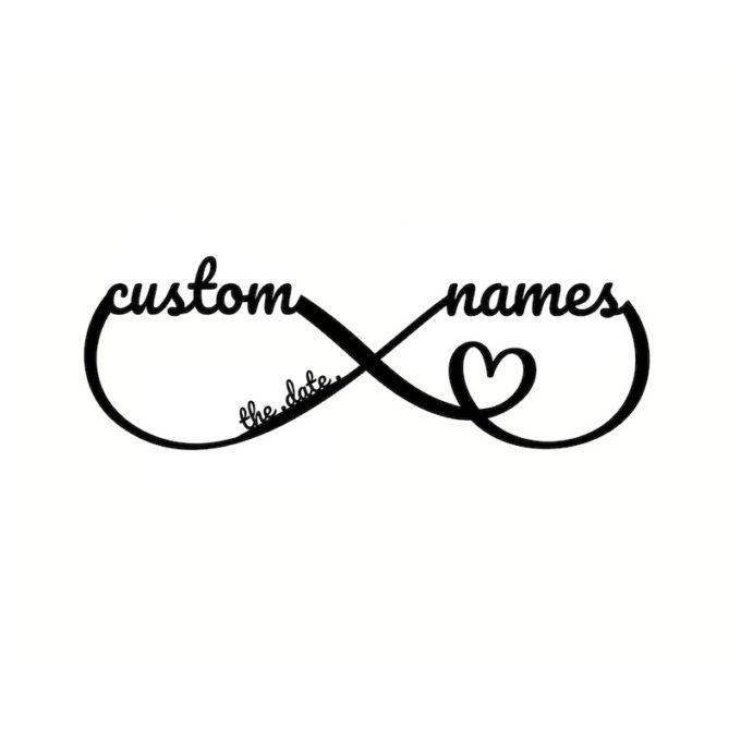Metal Infinity Sign Custom Infinity Symbol With Names