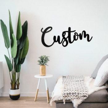Custom Metal Name Sign Metal Name Sign Wall Decor
