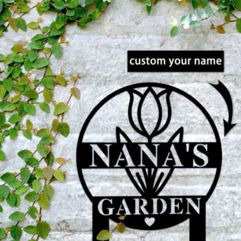 Personalized Metal Garden Sign with Family Last Name